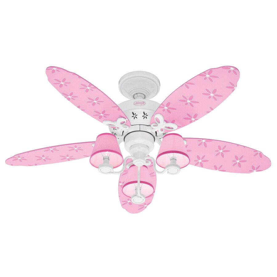 Hunter 44-in Dreamland White Kids Ceiling Fan with Light Kit