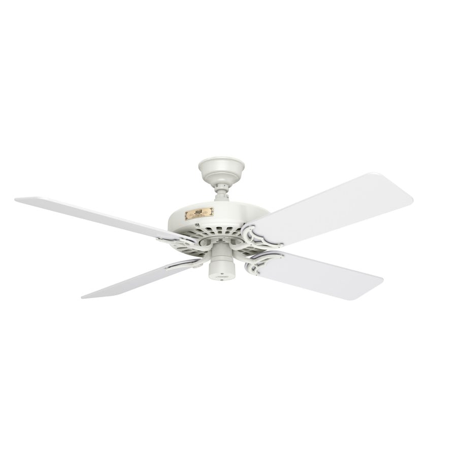 Hunter Original 52-in White Downrod Mount Indoor/Outdoor Commercial/Residential Ceiling Fan ENERGY STAR