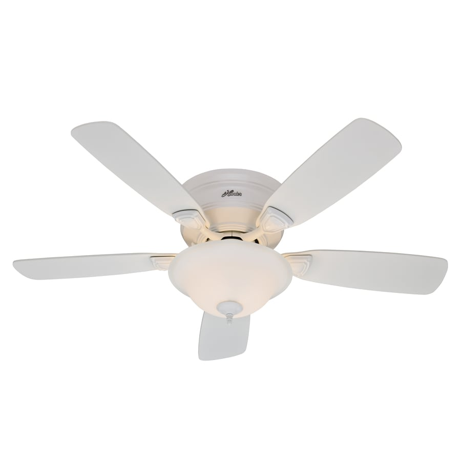 049694239105 hunter 48 in low profile plus white ceiling fan with light kit model 5745 ceiling fan wiring diagram at bayanpartner.co