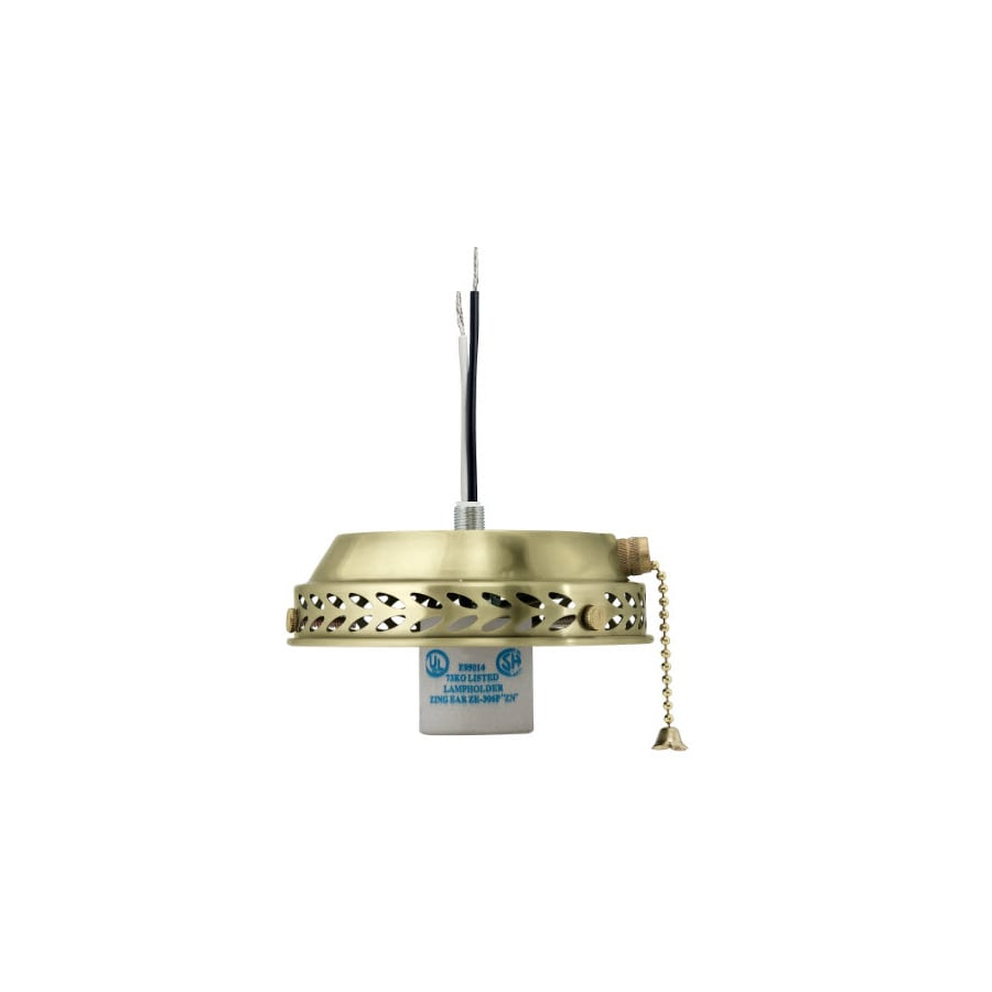 Hunter 1-Light Hunter Bright Brass Ceiling Fan Light Kit with Glass Not Included Glass or Shade