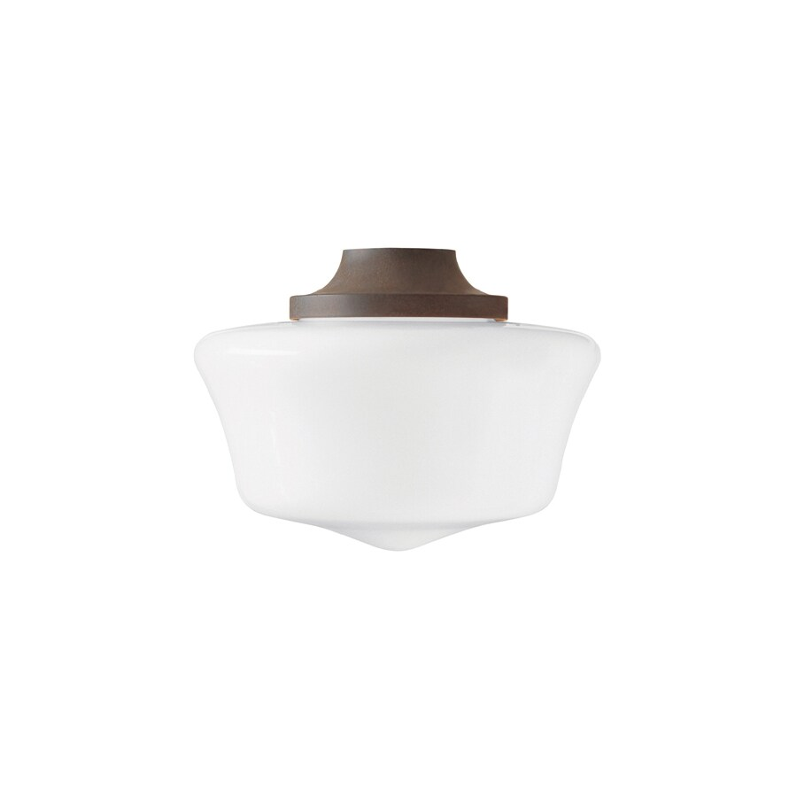 Hunter Original 1-Light Weathered Bronze Fluorescent Ceiling Fan Light Kit with Frosted Glass