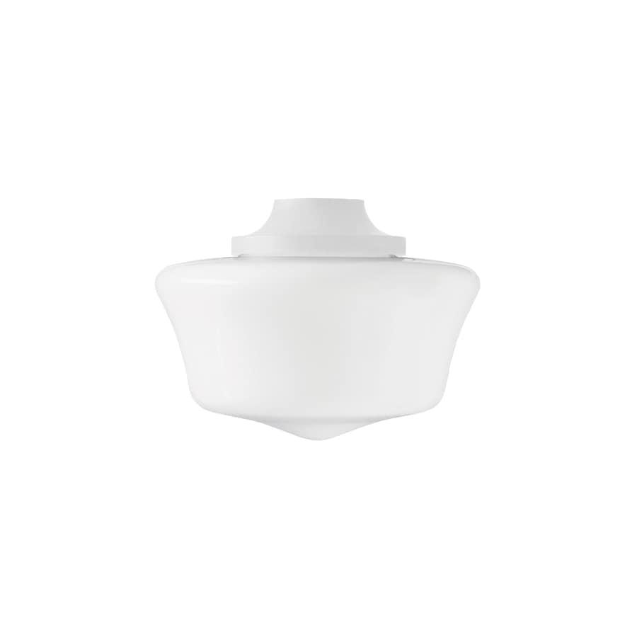 Hunter 1-Light Satin White Ceiling Fan Light Kit with Opal Glass or Shade