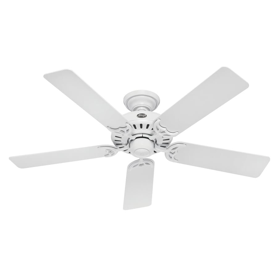 Hunter 52-in Summer Breeze White Ceiling Fan ENERGY STAR