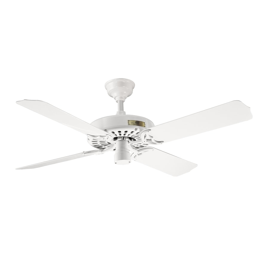 Prestige by Hunter Outdoor Original 52-in White Outdoor Downrod Mount Ceiling Fan (4-Blade)