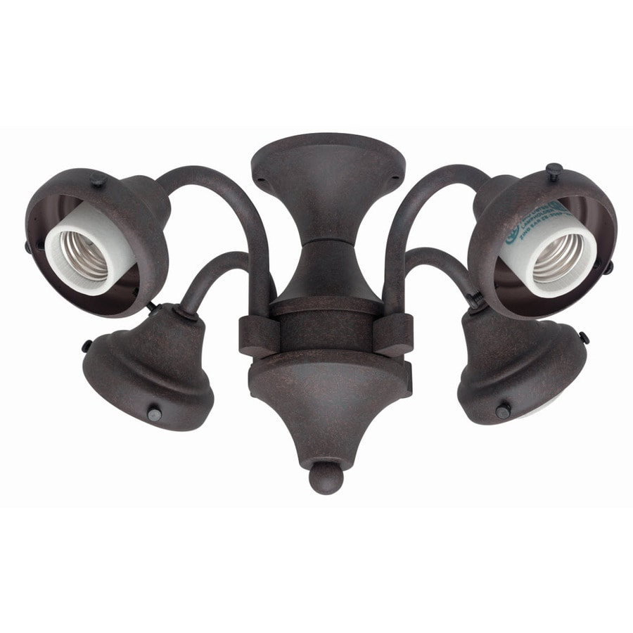 Hunter 4-Light Weathered Bronze Ceiling Fan Light Kit