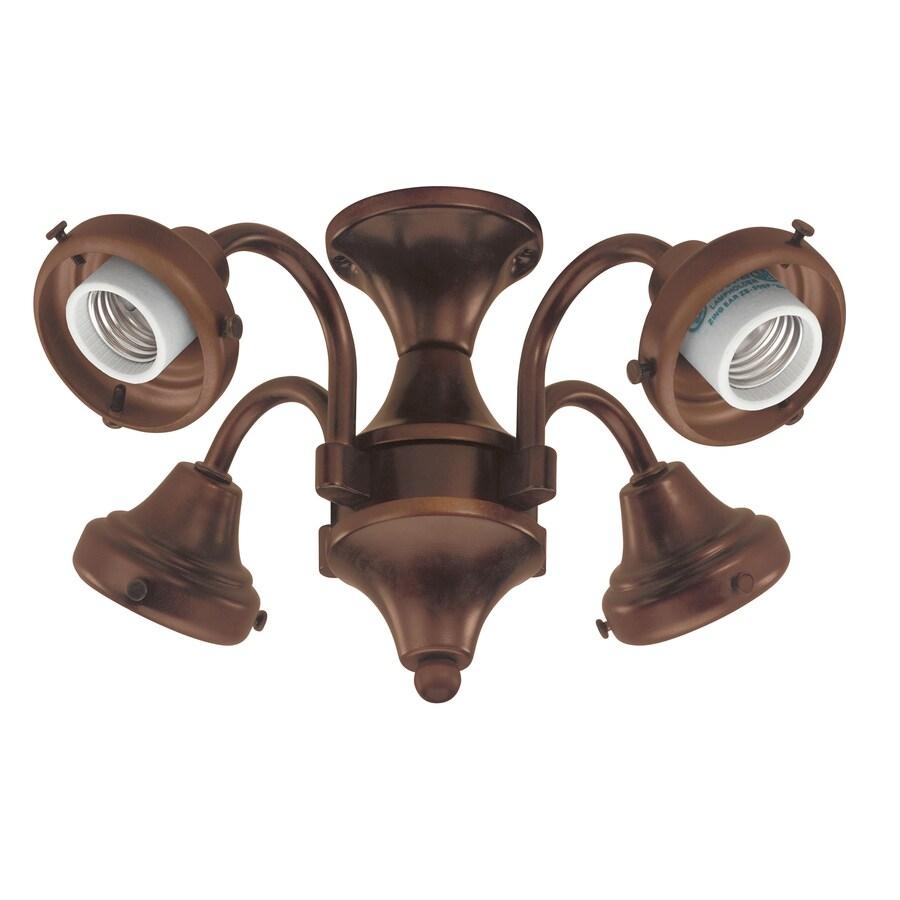 Hunter 4 Light Antique Brass Ceiling Fan Kit