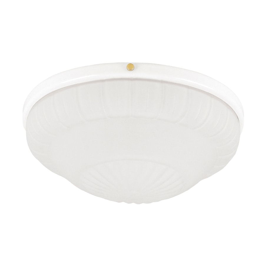 Hunter 2-Light White Ceiling Fan Light Kit with Frosted Rosette Glass or Shade