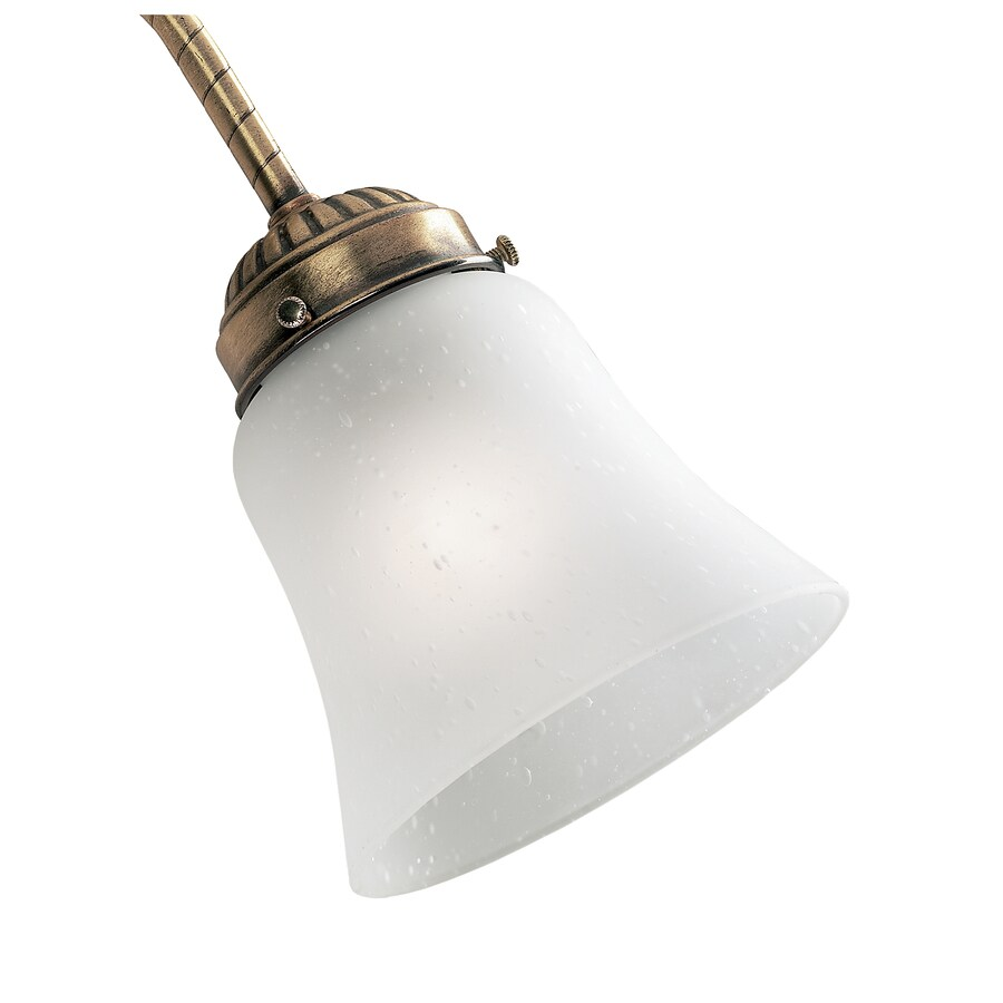 Hunter 4.625-in H 4.625-in W Frosted Seeded Glass Bell Ceiling Fan Light Shade