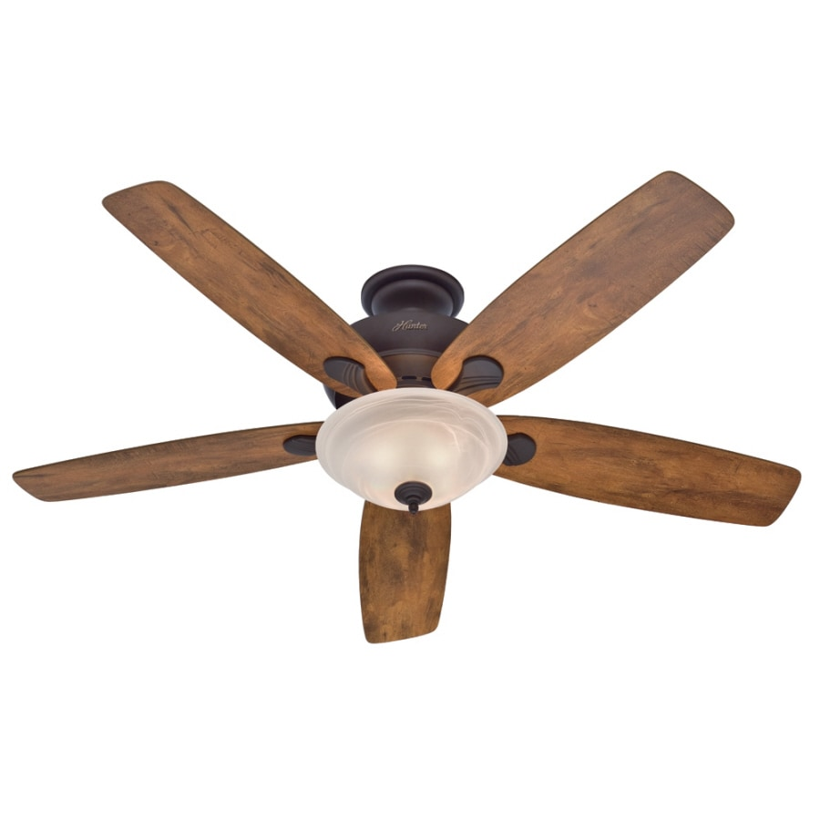 Hunter 60-in Regalia New Bronze Indoor Ceiling Fan with Light Kit