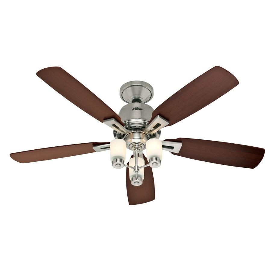 "Hunter Fan Brickfield 52 Indoor Brushed Nickel Ceiling: Shop Hunter 52"" Altitude Brushed Nickel Ceiling Fan At"
