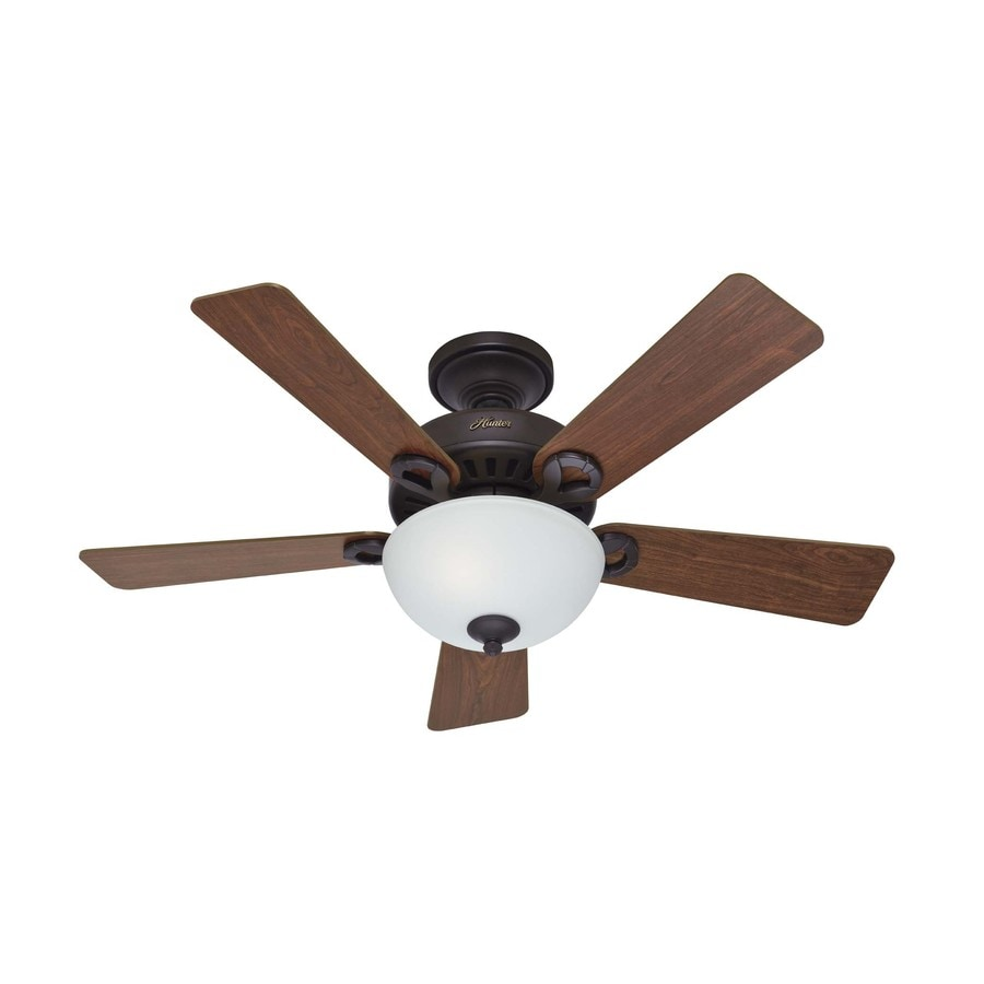 Hunter 44-in 5-Minute New Bronze Ceiling Fan with Light Kit