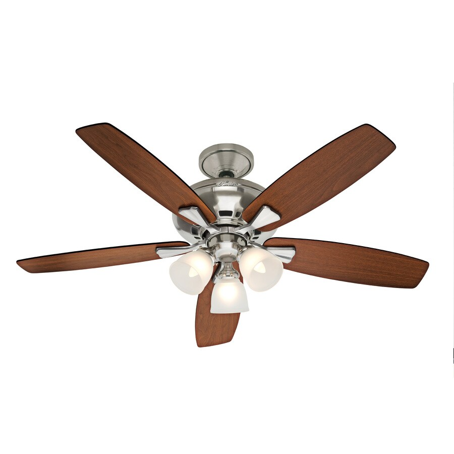 Hunter 52 In Winslow Brushed Nickel Ceiling Fan With Light Kit