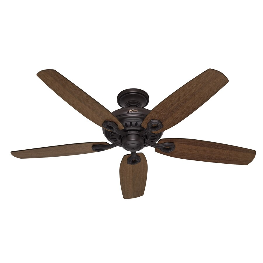Hunter 54-in Kingston New Bronze Ceiling Fan ENERGY STAR