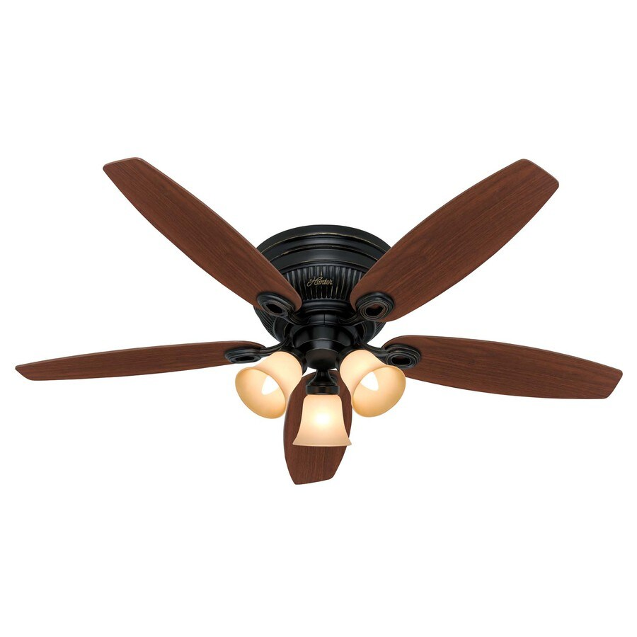 Hunter 52-in Wellesley Basque Black Ceiling Fan with Light Kit