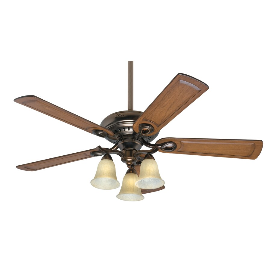 Prestige by Hunter 52-in Whitten Bronze Patina Ceiling Fan with Light Kit