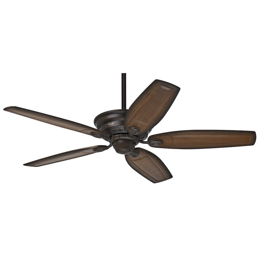 Prestige by Hunter Bingham 52-in Cocoa Downrod or Flush Mount Indoor Ceiling Fan