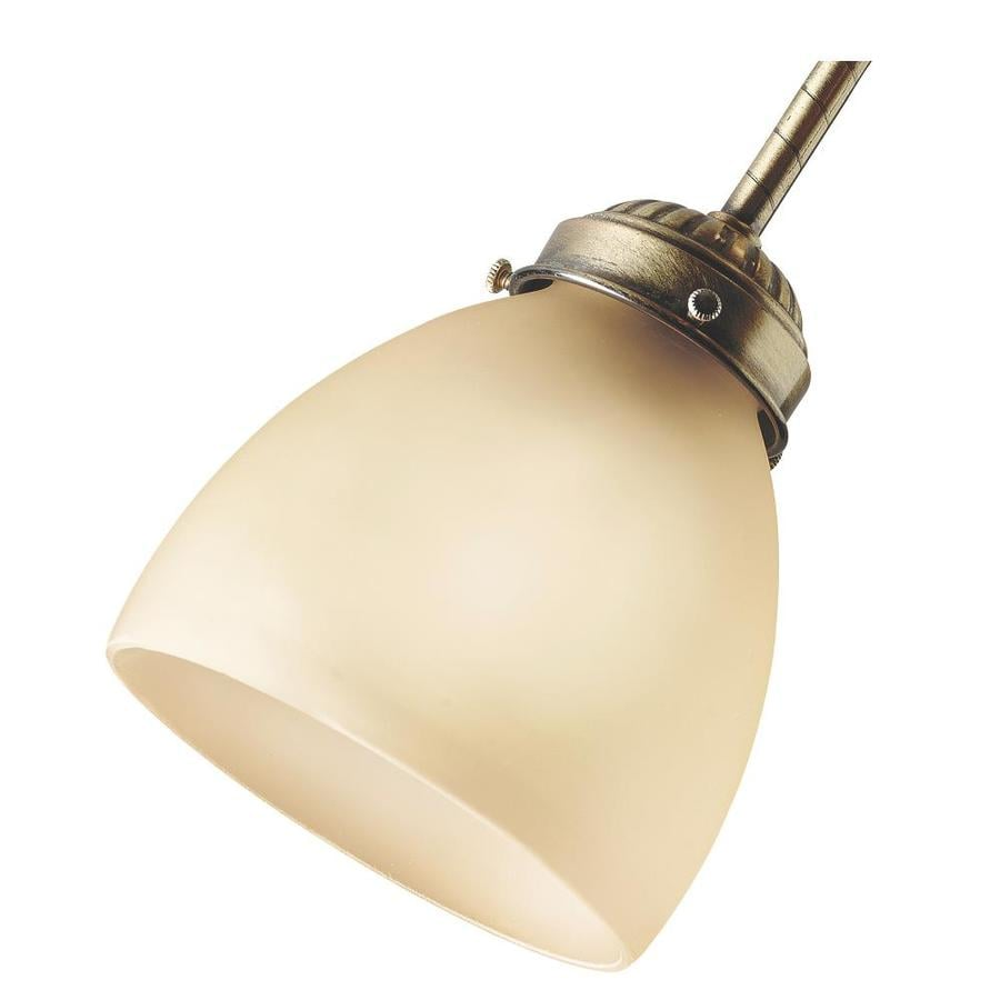 Hunter 4.625-in H 4.625-in W Amber Tinted Glass Dome Ceiling Fan Light Shade