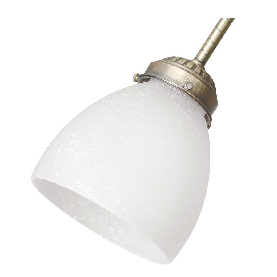 Hunter 4.625-in H 4.625-in W White Linen Dome Ceiling Fan Light Shade