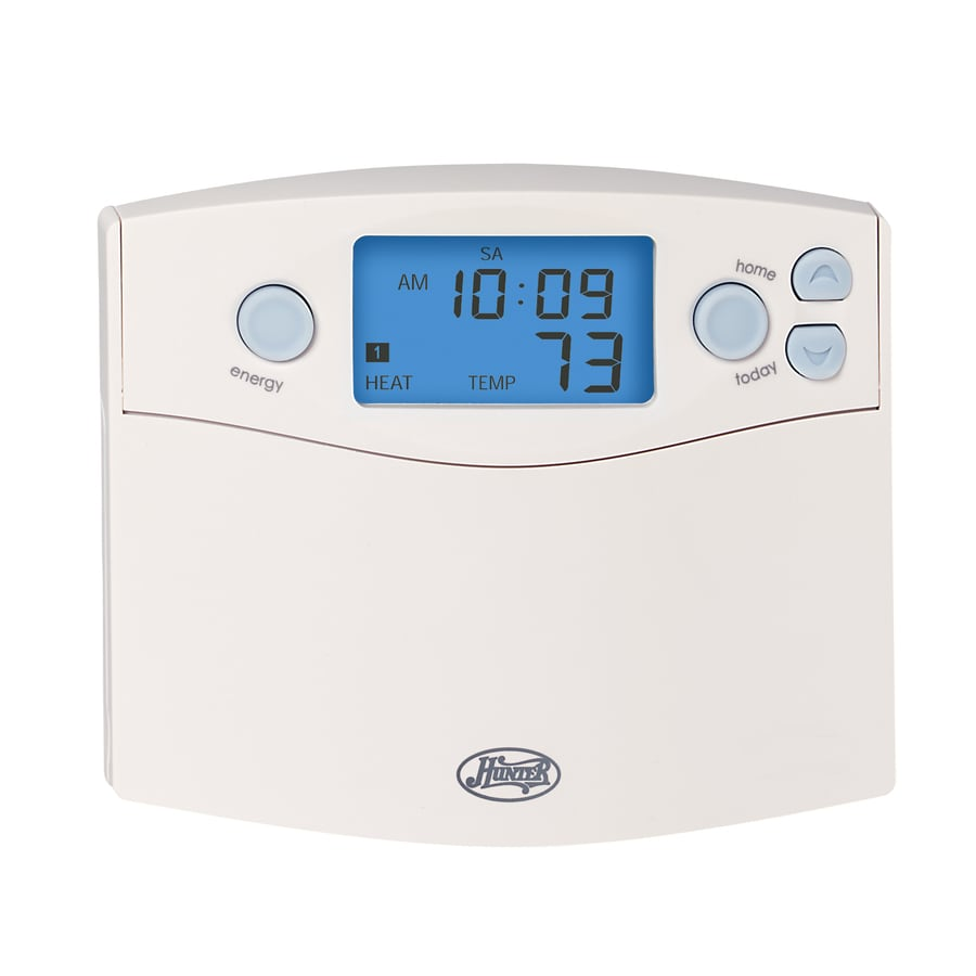 049694443601 shop hunter 7 day programmable thermostat at lowes com hunter thermostat 44860 wiring diagram at mr168.co