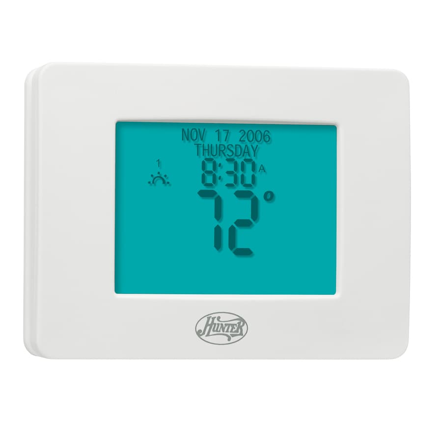 shop hunter 7 day touch screen programmable thermostat at lowes com rh lowes com hunter thermostat manual 44377 hunter thermostat manual 44860 pdf