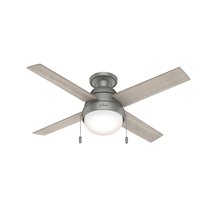 Hunter Kensie Led 44 In Matte Silver Led Indoor Ceiling Fan With