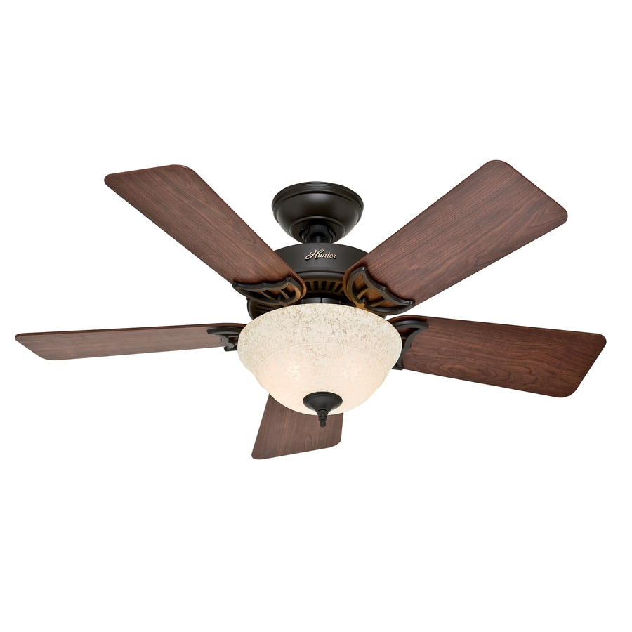 Shop hunter the kensington 42 in new bronze indoor downrod for Hunter ceiling fan motor