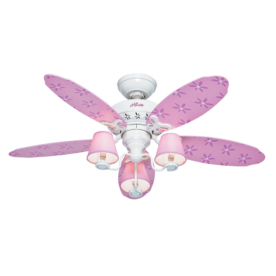 hunter 44in dreamland white kids ceiling fan with light kit 5 blades