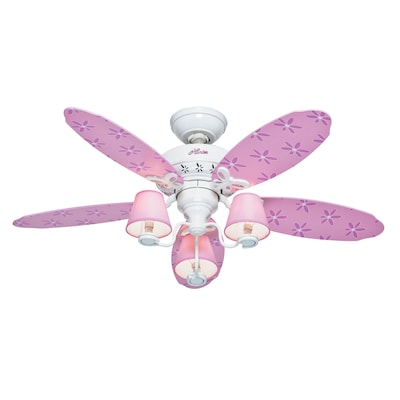 44 In Dreamland White Kids Ceiling Fan With Light Kit 5 Blades