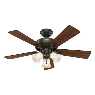 Hunter Ridgefield II 44-in Satin Bronze Indoor Ceiling Fan