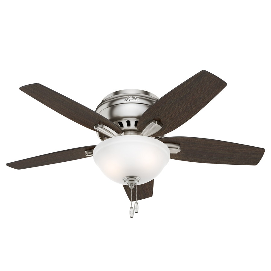 Hunter Ceiling Fans With Lights : Shop hunter newsome in brushed nickel indoor flush