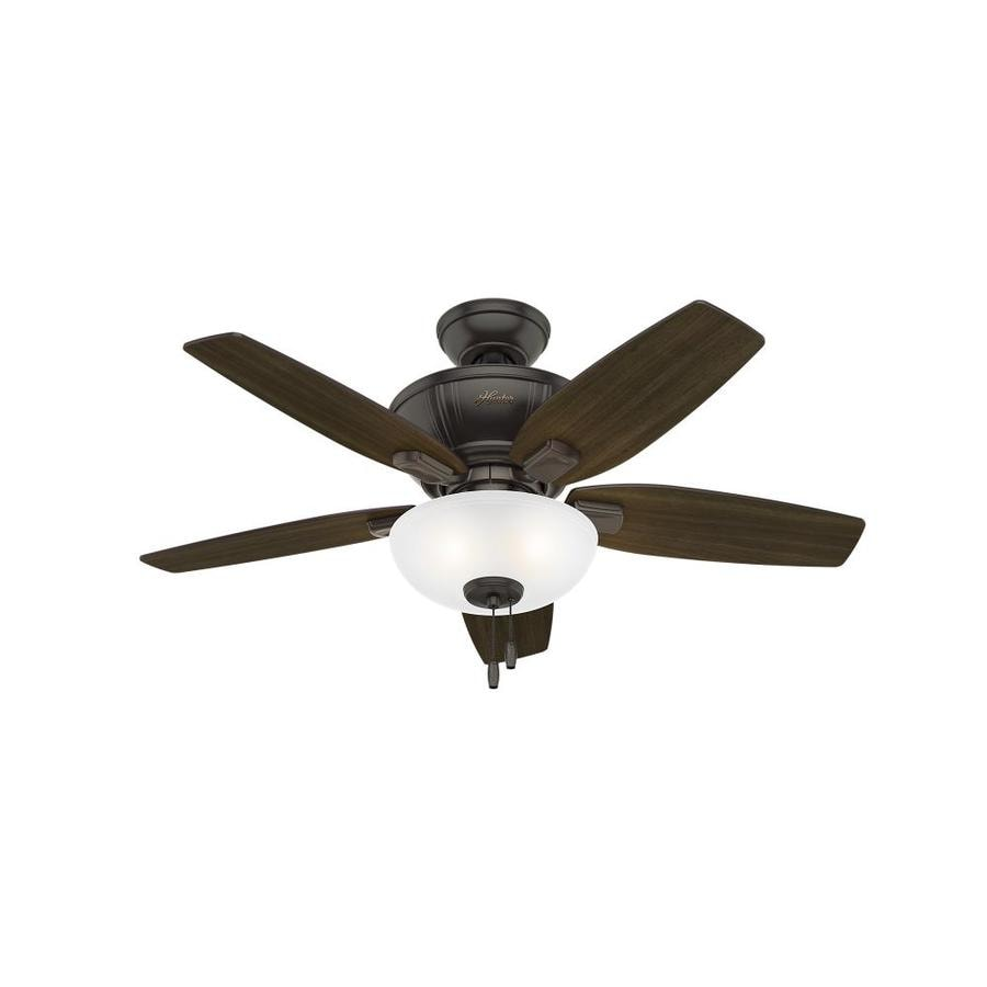 Hunter 1-Pack Kenbridge 42-in ble Bronze Downrod or close mount Indoor Ceiling Fan with Light Kit