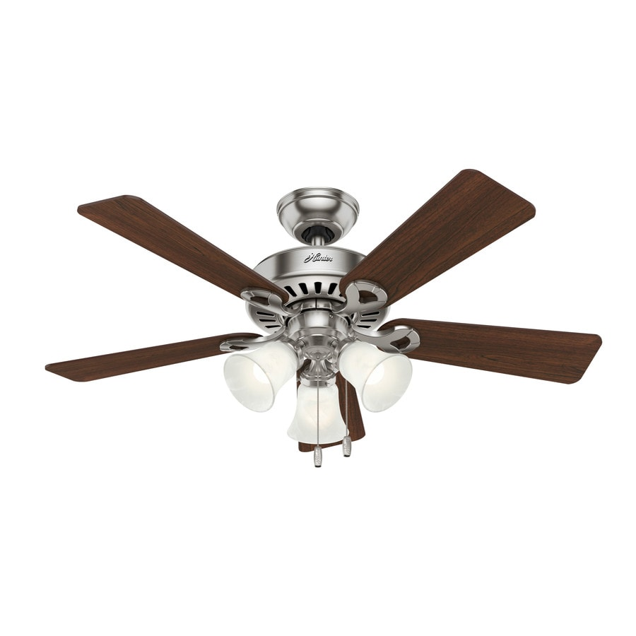 44 White Downrod Close Mount Indoor Outdoor Tropical: Hunter Ridgefield Ii Ceiling Fan