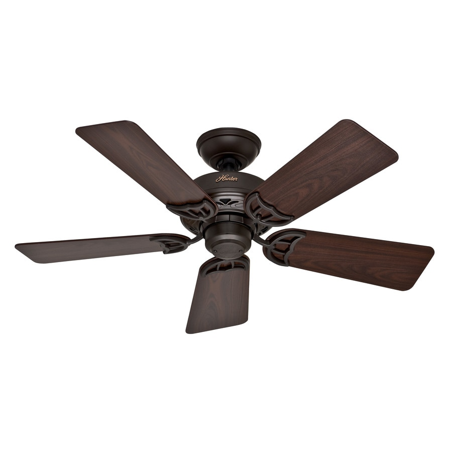Hunter Hudson 42-in New Bronze Downrod or Close Mount Indoor Residential Ceiling Fan