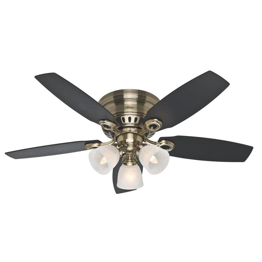 Hunter Hatherton 46 In Indoor Flush Mount Ceiling Fan With