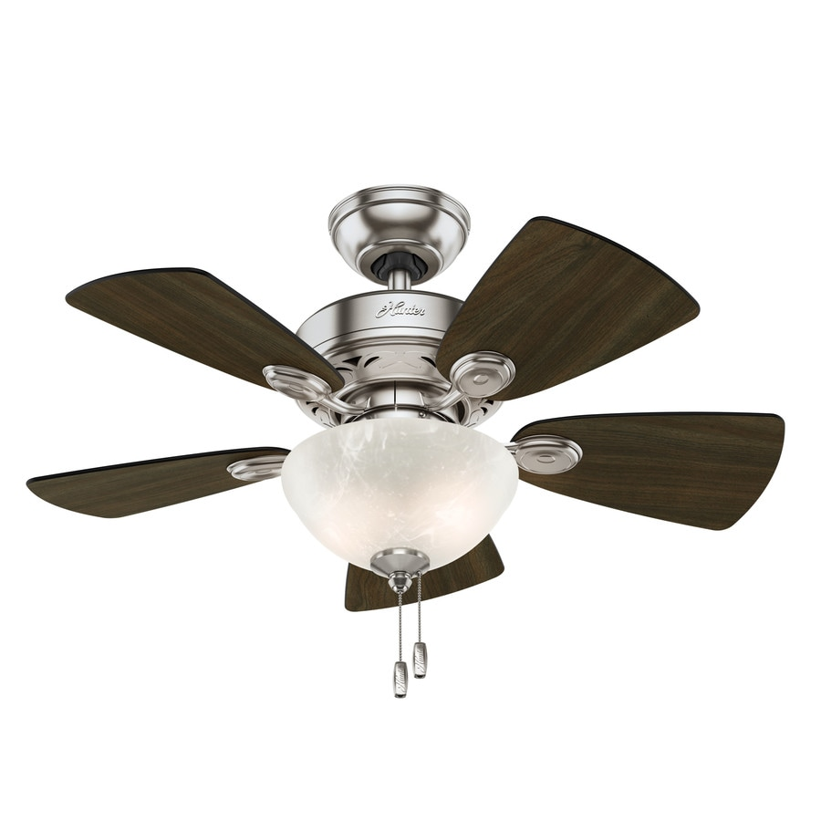Hunter Ceiling Fans With Lights : Shop hunter watson in brushed nickel indoor ceiling fan