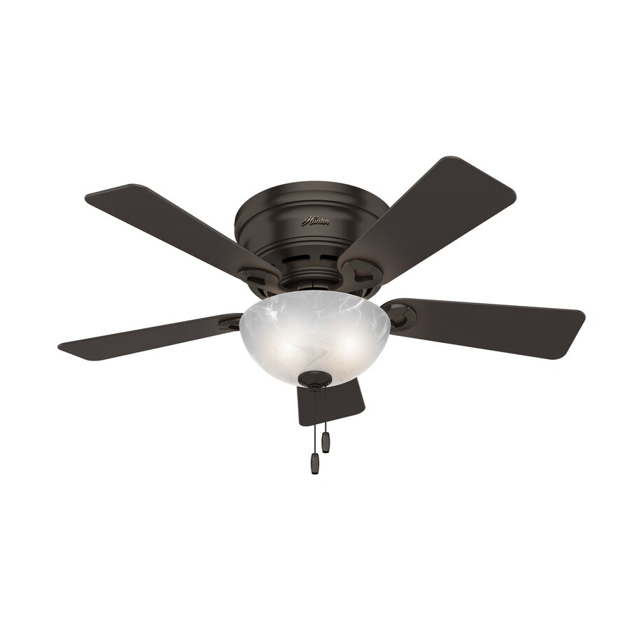 Ceiling Fans Mount: Hunter Haskell 42-in Premier Bronze Indoor Flush Mount