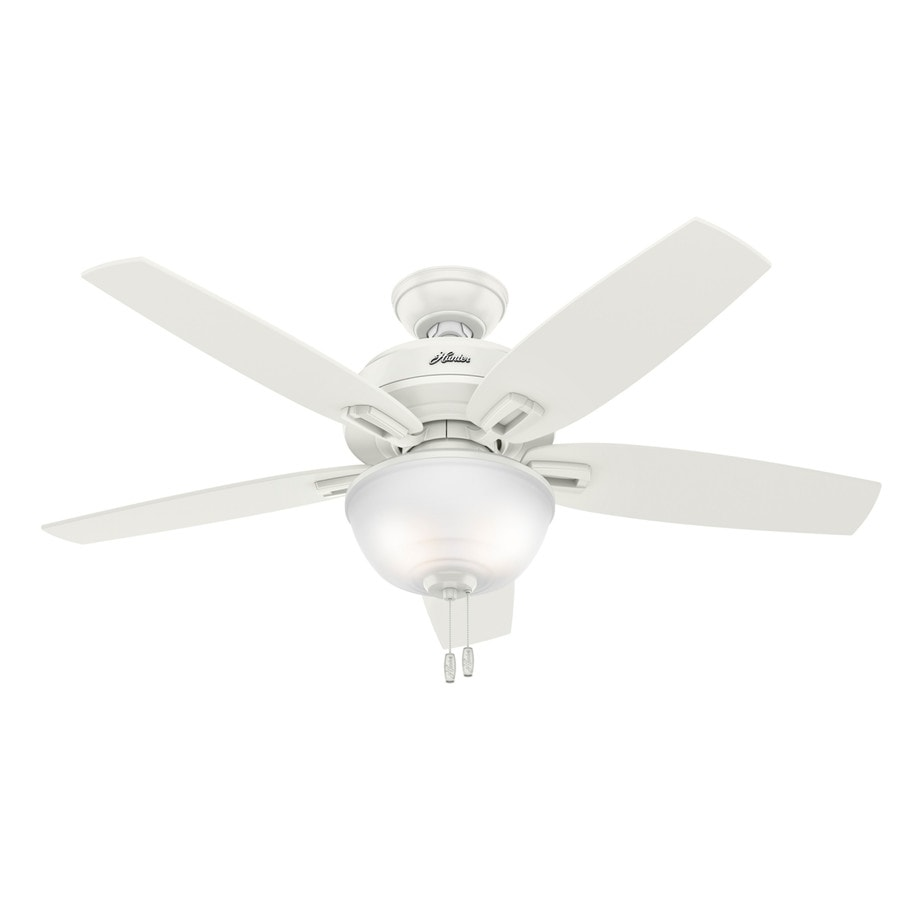 Shop hunter wetherby cove 48 in fresh white indooroutdoor ceiling hunter wetherby cove 48 in fresh white indooroutdoor ceiling fan with light kit mozeypictures Gallery