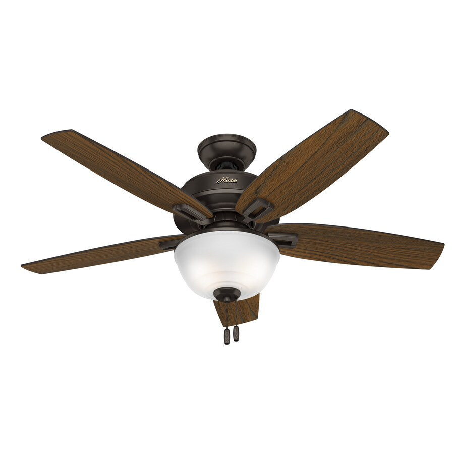 Hunter Wetherby Cove 48-in Premier Bronze Indoor/Outdoor Downrod Or Close Mount Ceiling Fan with Light Kit