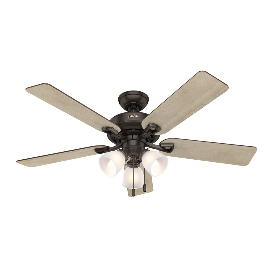 Ceiling Fan Mount : Shop hunter kenney in premier bronze indoor downrod or