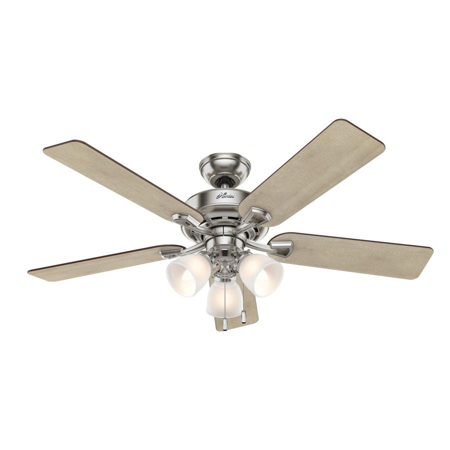 Hunter Fan Brickfield 52 Indoor Brushed Nickel Ceiling: Hunter Kenney 52-in Brushed Nickel Indoor Ceiling Fan With