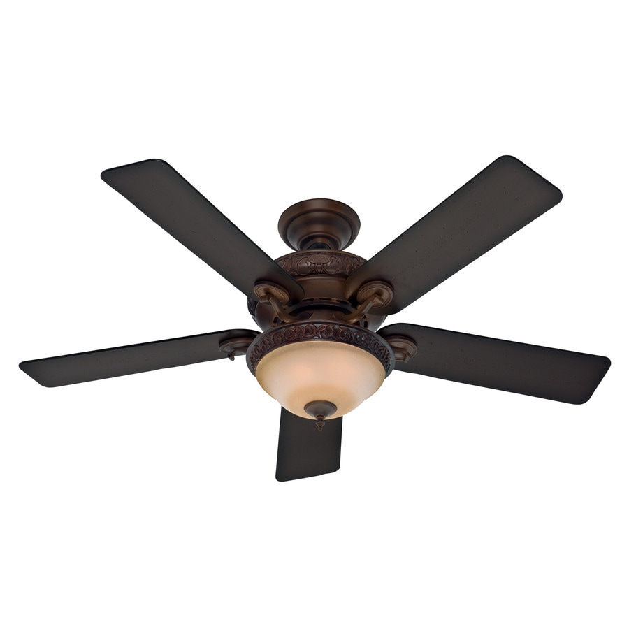 Hunter Ceiling Fans With Lights : Shop hunter vernazza in brushed cocoa indoor ceiling