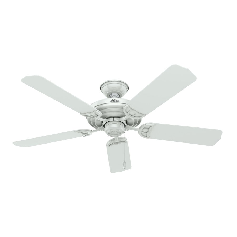 Hunter Sea Air 52-in White Indoor/Outdoor Downrod Or Close Mount Ceiling Fan ENERGY STAR