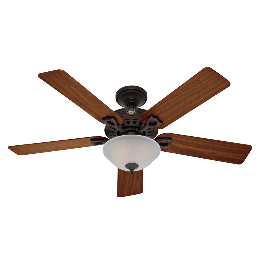 Hunter The Astoria 52-in New Bronze Indoor Downrod Or Close Mount Ceiling Fan with Light Kit