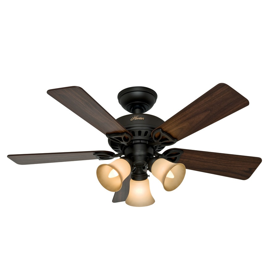 Hunter The Beacon Hill 42-in New Bronze Downrod or Close Mount Indoor Ceiling Fan with Light Kit