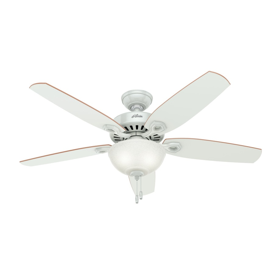 Hunter Builder Deluxe 52 In White Indoor Ceiling Fan With Light Kit