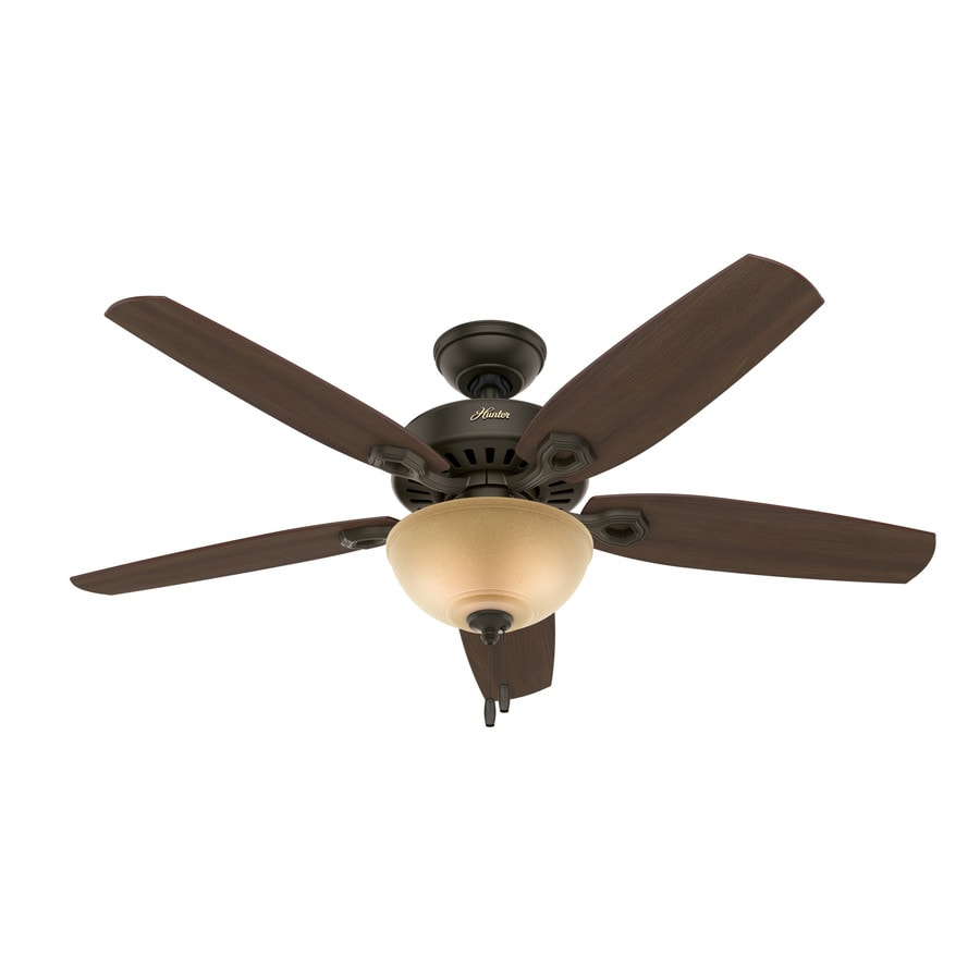 Hunter Ceiling Fans With Lights : Shop hunter builder deluxe in new bronze indoor ceiling