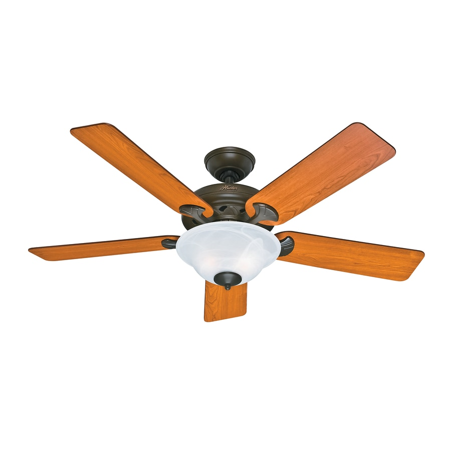 Gold Ceiling Fan : Shop hunter the brookline in provencal gold downrod or