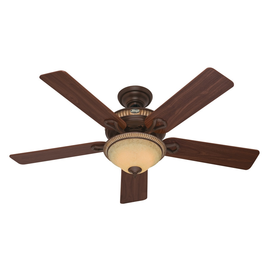 Hunter Aventine 52-in Cocoa Downrod or Close Mount Indoor Ceiling Fan with Light Kit
