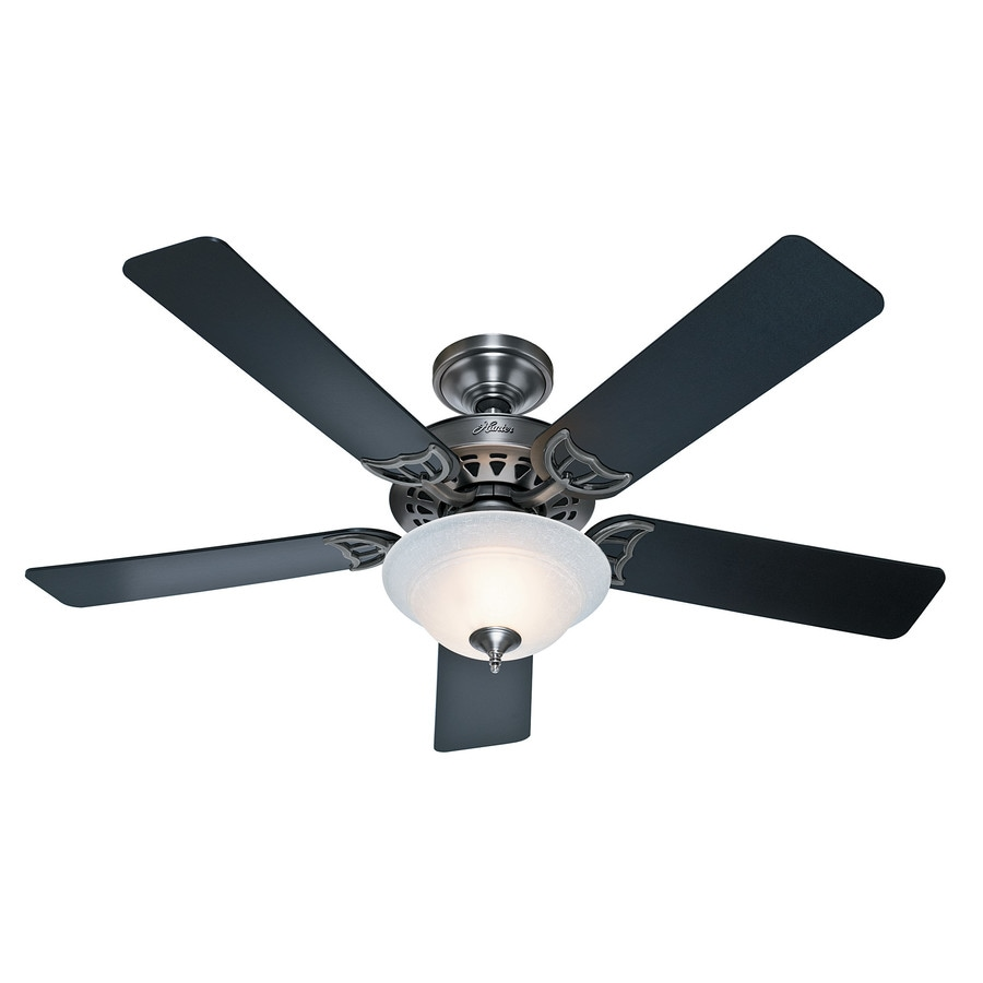 Hunter The Sonora 52-in Antique Pewter Downrod or Close Mount Indoor Ceiling Fan with Light Kit ENERGY STAR