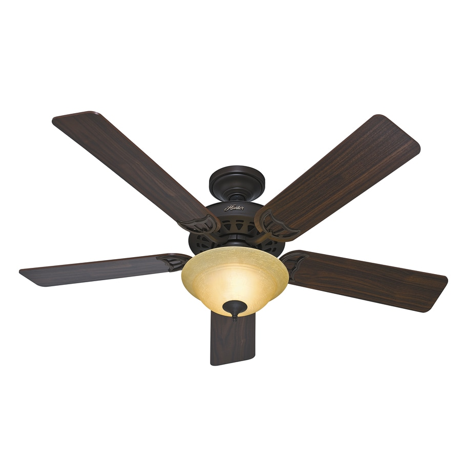 Hunter The Sonora 52-in New Bronze Downrod or Close Mount Indoor Ceiling Fan with Light Kit ENERGY STAR